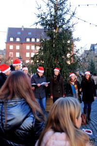 Small choir at Christmas Markets in Düsseldorf