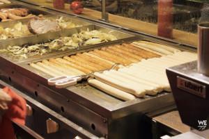 Sausages at Christmas Markets in Düsseldorf