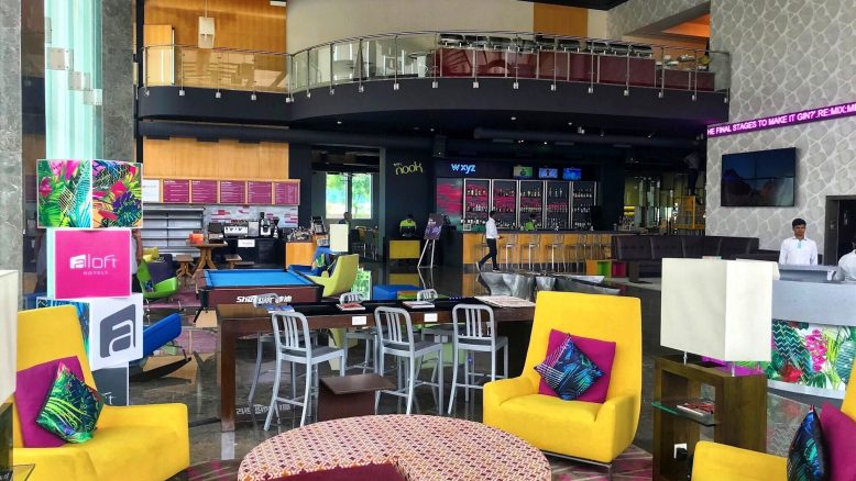 aloft Bangalore: reception and lounge