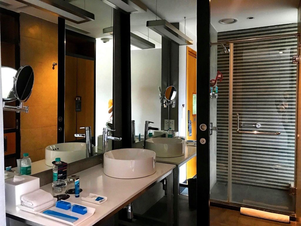 aloft Bangalore bathroom with walk-in shower