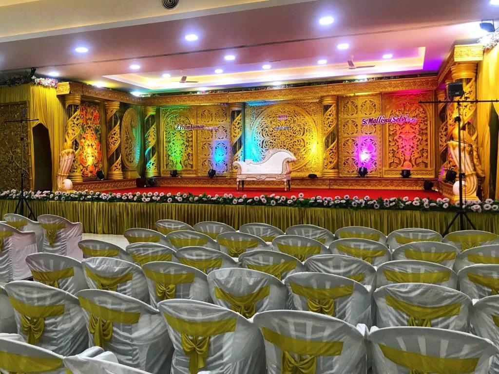 Interior of a wedding hall
